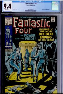 Fantastic Four 87 CGC 9.4 OW pages; Doctor Doom (conclusion); death  of Hauptman