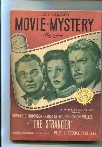 MOVIE MYSTERY-#1-JULY 1946-PULP-THE STRANGER-SOUTHERN STATES PEDIGREE-vf/nm