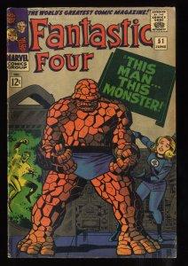 Fantastic Four #51 VG+ 4.5 1st Negative Zone Classic Jack Kirby!