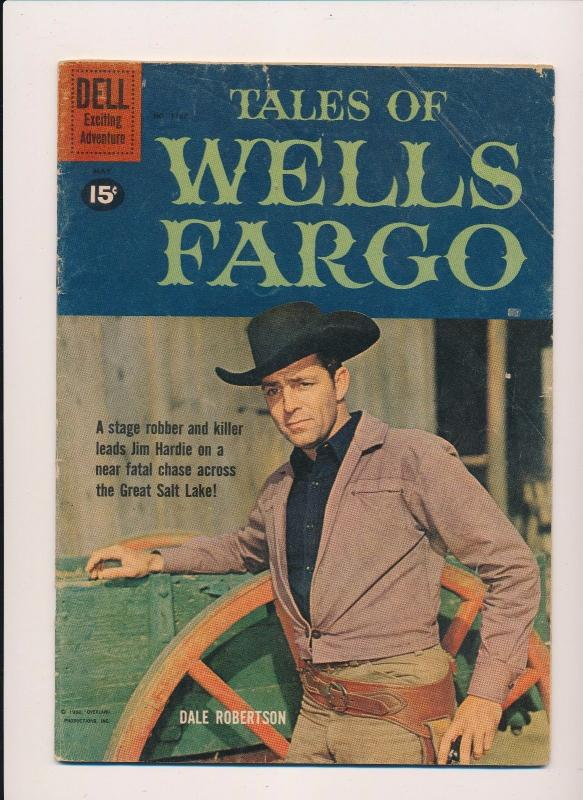 Dell Comics TALES of WELLS FARGO (Dale Robertson Cover) #1167 GD 1961 (B21)