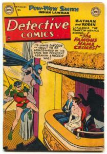 Detective Comics #183 1952- Lincoln assassination-Batman VG/F