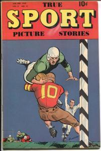 True Sport Picture Stories Vol 4 #11 1949-Powell-football-Slewfoot Jones-FN-