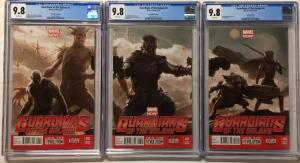 Guardians Of The Galaxy 2 3 4 Variant Movie Concept Art Connecting Cover Cgc 9.8