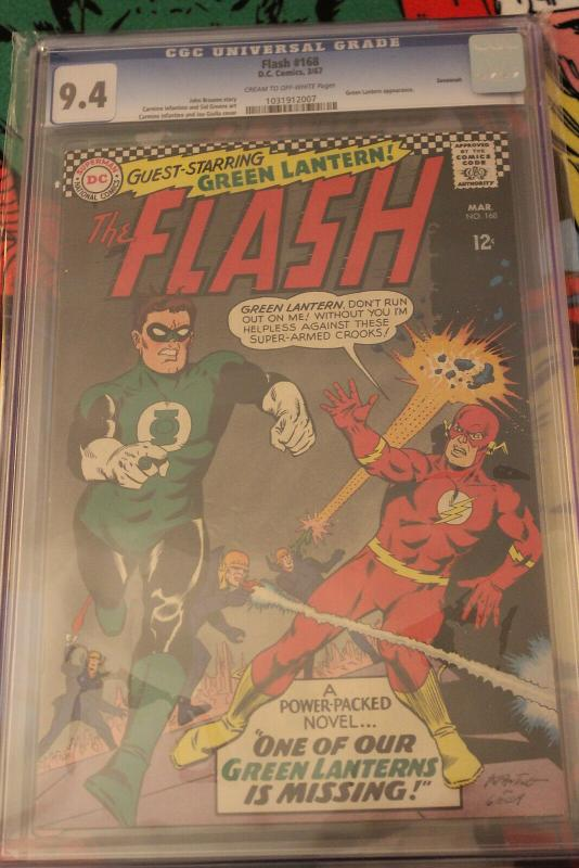 The Flash #168 Savannah Pedigree (DC, 1967) CGC NM 9.4 Cream to off-white pages
