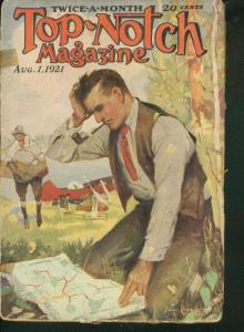 TOP-NOTCH PULP 1921 AUG 1 CANOE COVER STREET & SMITH G