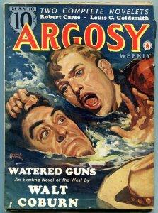 Argosy Pulp May 18 1940- Belarski cover- Walt Coburn- Watered Guns F/VF