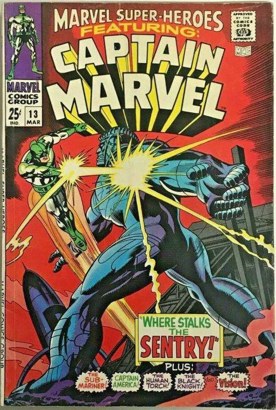 MARVEL SUPER HEROES#13 VF 1968 FIRST CAROL DANVERS SILVER AGE COMICS
