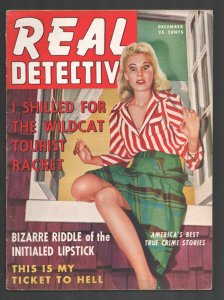 Real Detective 12/1941-Good Girl Art cover-Crime-violence-exploitation-pulp t...