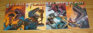 Flesh #1-4 VF/NM complete series - carl critchlow - pat mills - tony skinner 2 3
