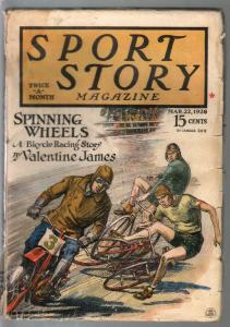 Sport Story 3/22/1928-F A Carter cover-motorcycle-lacrosse-VG