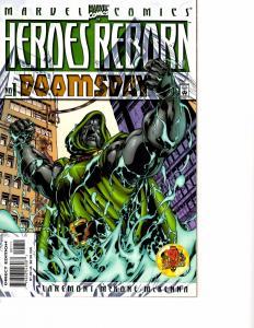 Lot Of 2 Heroes Reborn  Marvel Comic Book #Doomsday 1 Doom 1 AH4