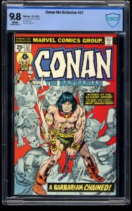 Conan the Barbarian #57 CBCS NM/M 9.8 White Pages