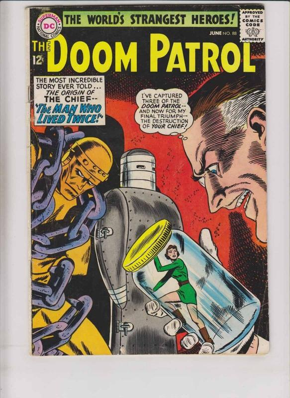 Doom Patrol #88 VG/FN june 1964 - origin of the chief - silver age dc comics