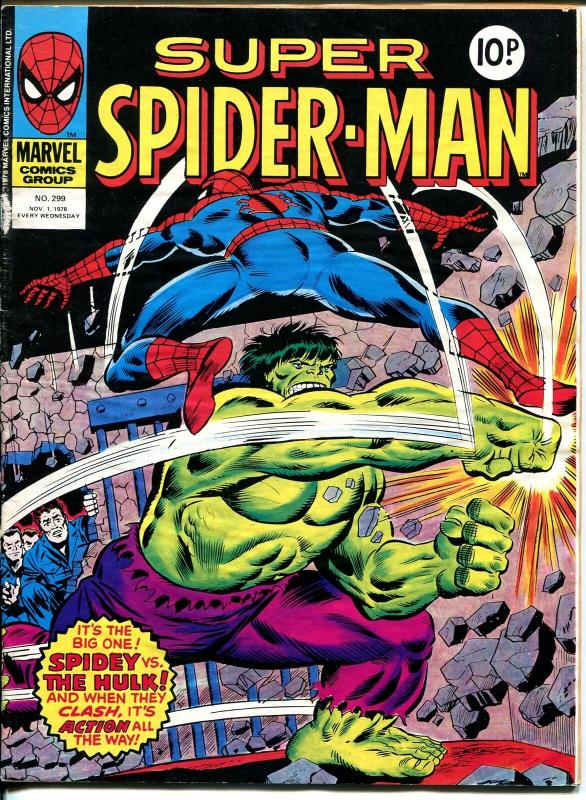 Super Spider-man #299 1978-Marvel-foreign-Hulk-Avengers-Captain America-G