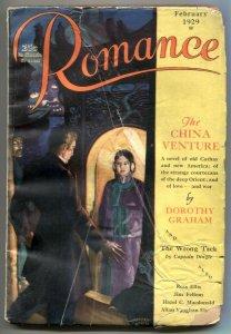 Romance Pulp February 1929- China Venture- Captain Dingle