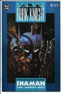 BATMAN: LEGENDS OF THE DARK KNIGHT #2, NM, Shaman, 1989, more BM in store