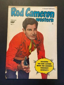 Rod Cameron Western 1 VG- (Fawcett Feb. 1950)