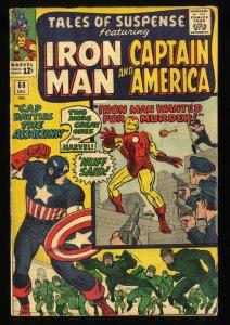 Tales Of Suspense #60 VG 4.0 Iron Man Captain America 2nd Hawkeye!