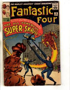 Fantastic Four # 18 VG/FN Marvel Comic Book Thing Human Torch Dr. Doom FH2