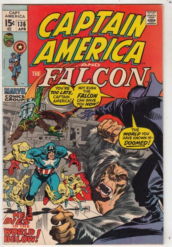 Captain America #136 (Apr-71) VF/NM High-Grade Captain America