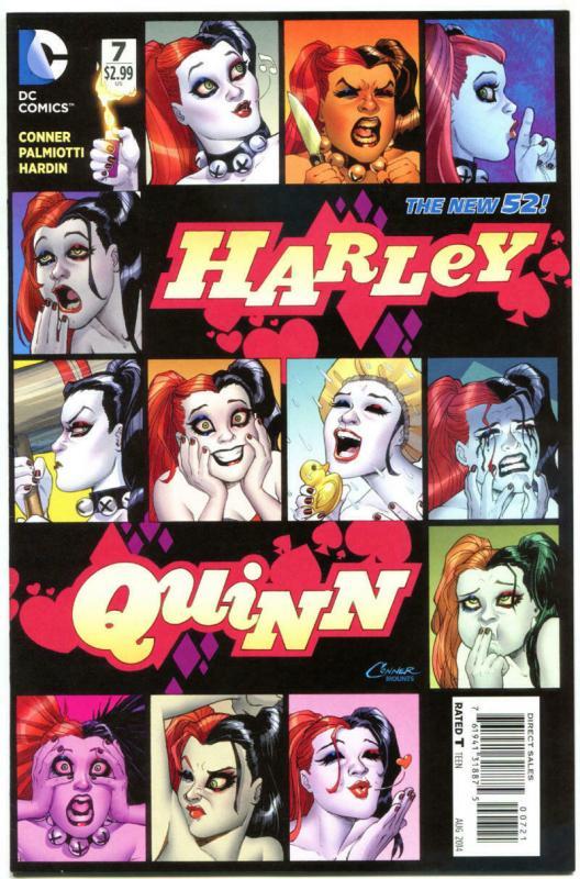 HARLEY QUINN #7, VF, Variant, Amanda Conner, Palmiotti, 2014, more HQ in store