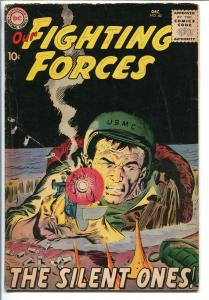 OUR FIGHTING FORCES #40-1958-DC-SILVER AGE-SILENT ONES-JOE KUBERT-vg+