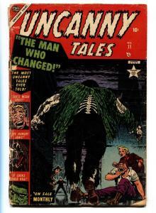 UNCANNY TALES #11 1953-A-bomb panel- Precode Atlas Horror FR/G