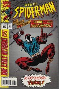 Web of Spider-man #118 (Marvel, 1994) KEY 1st Scarlet Spider