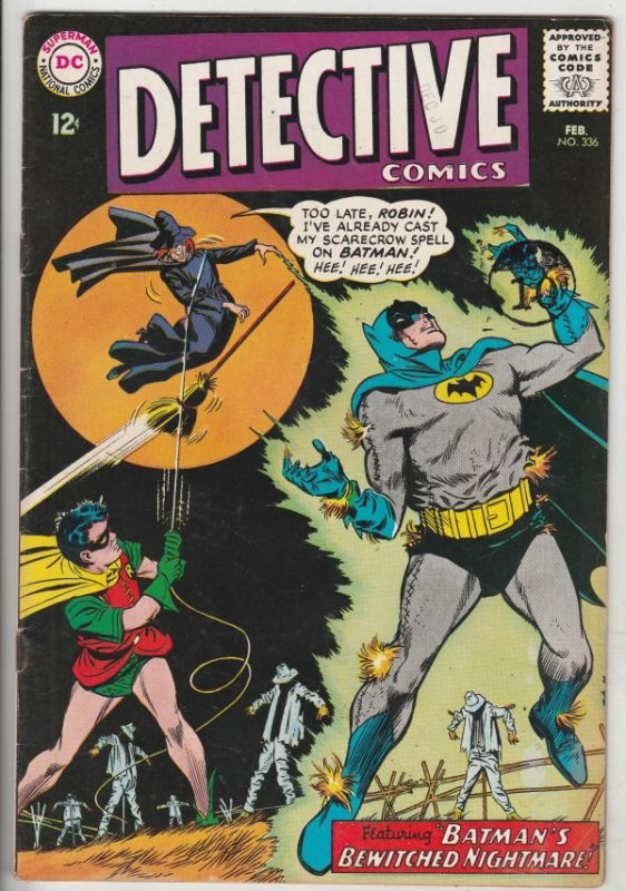 Detective Comics #336 (Feb-65) VF+ High-Grade Batman, Robin