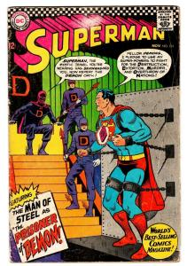 SUPERMAN #191 1966-DC COMICS-CHAINS COVER THE DEMON VG