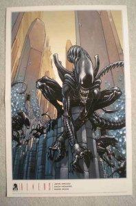 ALIENS & PREDATOR Promo Poster, 11x17, 2009, Unused, Aliens on 1 w/ predator on