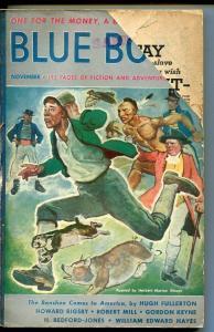BLUE BOOK PULP-NOV 1940-G/VG-STOOPS COVER-BEDFORD-JONES-RIGBY-BURNET G/VG