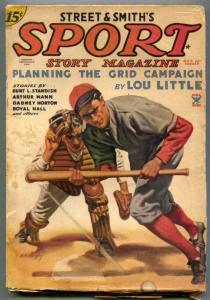 Sport Story Pulp October 25 1934- Lou Little- Baseball cover