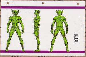Official Handbook of the Marvel Universe Sheet- Jackal
