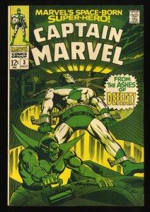 Captain Marvel #3 FN- 5.5 Comic