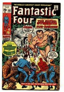 FANTASTIC FOUR #102 1970-SUB MARINER-JACK KIRBY ART VF