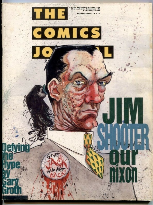 Comics Journal #171 1994- Dame Darcy- Clive Barker comic fanzine FN