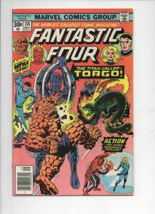 FANTASTIC FOUR #174, VF, Buscema, Torgo, Battle, 1961 1976, more FF in store