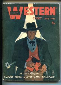 WESTERN STORY 06/1945-STREET & SMITH-ACE OF SPADES-KJELGAARD STORY-vg/fn