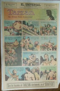 Tarzan Sunday Page #625 Burne Hogarth from 2/28/1943 in Spanish! Full Page Size