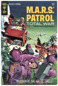 M A R S PATROL TOTAL WAR #4 BATTLE COVER 1967 GOLD KEY FN/VF