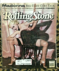 ROLLING STONE MAGAZINE #606 June 1990 - MADONNA MEISEL CARRIE FISHER VG