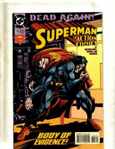 10 Action Comics DC Comic Books #705 706 707 708 709 710 711 712 713 714 JF12