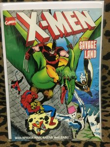X-MEN IN THE AVAGE LAND TPB 1st Printing MARVEL 1987 VF+ Never Read