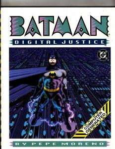 Batman Digital Justice DC Comics HARDCOVER Graphic Novel Book Pepe Moreno J370