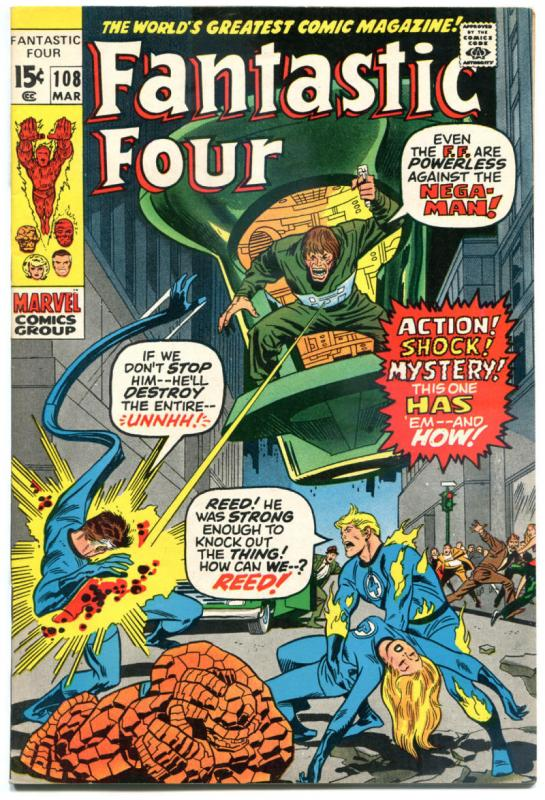 FANTASTIC FOUR #108, VF, Mega-Man, Jack Kirby, 1961, more FF in store