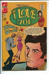 I Love You #99 1972-Charlton-Pete Morisi art-David Cassidy poster-VG
