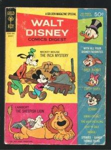 Walt Disney Comics Digest #3 1968-Carl Barks art-Uncle Scrooge-Captain Hook-P...