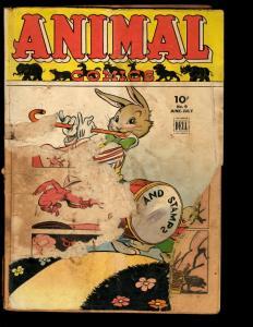 Animal Comics # 9 PR Dell Golden Age Comic Book Funny Animal NE3