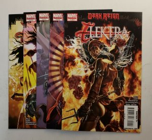 ELEKTRA DARK REIGN #1-5 COMPLETE SET MARVEL COMICS 2009 NM
